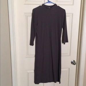 Gray jersey knit dress
